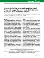 Incontinencia fecal secundaria a esfinterotomía lateral interna ...