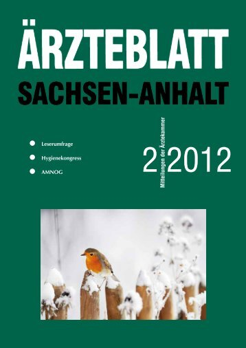 Als PDF-Datei herunterladen - Ärztblatt Sachsen-Anhalt