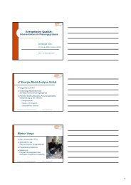 Energetische Qualität: e7 Energie Markt Analyse GmbH ... - FMA