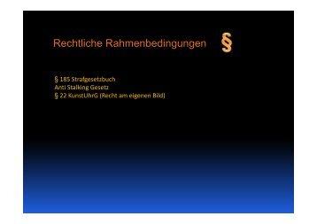 Rechtliche Rahmenbedingungen - Medienwerkstatt Potsdam