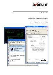 Mail Interface Installations - avenum - Die Technologie GmbH