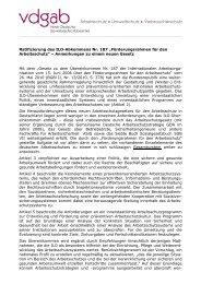 Arbeitsschutz • Umweltschutz • Verbrauchers - VDGAB