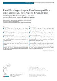 Familiäre hypertrophe Kardiomyopathie - eine komplexe, heterogene ...