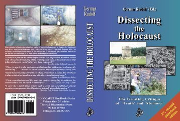 Dissecting Holocaust Dissecting Holocaust - Unity of Nobility - News ...
