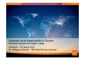 Corporate Social Responsibility in Tourism - Green Travel