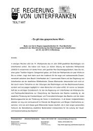 Abschlusssitzung des Bezirkstages von Unterfranken am 30. Juli ...