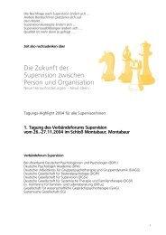 1. Tagung des Verbändeforums Supervision vom 26.-27.11 ... - BDP