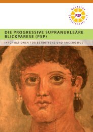 DIE PROGRESSIVE SUPRANUKLEäRE ... - PSP-Gesellschaft