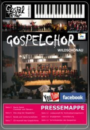 anklicken >>> Download PRESSEMAPPE 2013 - gospelchor-w.info