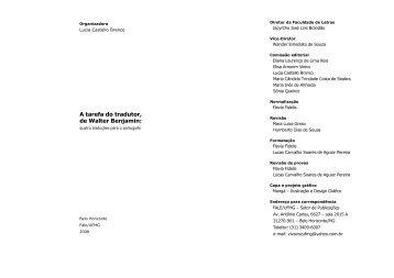 A tarefa do tradutor, de Walter Benjamin: - Fale