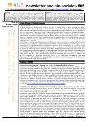 Newsletter Il sociale in Alto Adige-Soziales in Südtirol #05