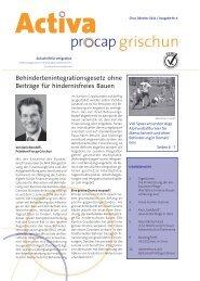 Behindertenintegrationsgesetz ohne Beiträge für ... - Procap Grischun