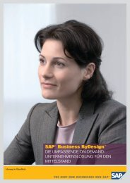 SAP® Business ByDesign™ - SAP.com
