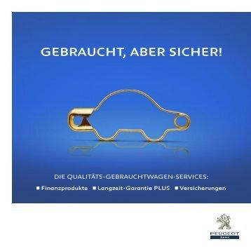GEBRAUCHT, ABER SICHER! - Peugeot Bank