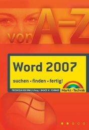 Word 2007 A-Z - Preistipp (Inhaltsverzeichnis)