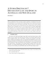 defamation law and sport in australia and new zealand - Victoria ...