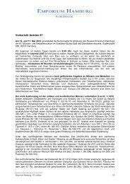 Vorbericht Auktion 67 - Emporium Hamburg