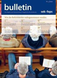 SEK-Bulletin 2/2010 - Evangelisch-Reformierte Kirche des Kantons ...