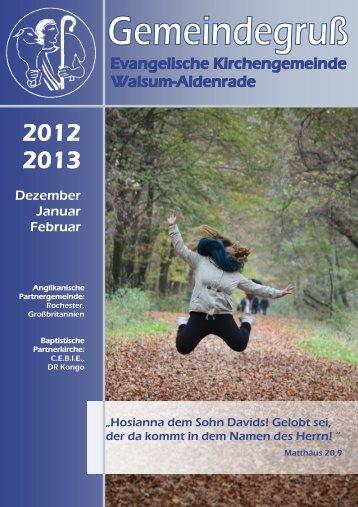 Dezember Januar Februar - Ev. Kirchengemeinde Walsum-Aldenrade