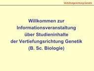 Vertiefungsrichtung Genetik - Mathematisch-Naturwissenschaftliche ...