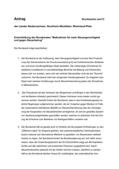 Anlage Bundesratsinitiative
