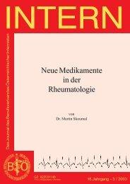 Neue Medikamente in der Rheumatologie - Berufsverband ...