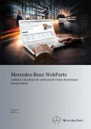 WebParts Handbuch für Online-Bestellungen - Mercedes-Benz ...