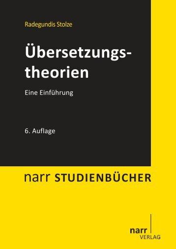 Übersetzungstheorien. Eine Einführung - Narr