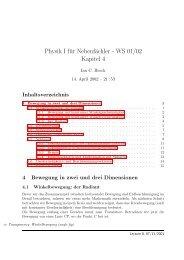 Physik I für Nebenfächler - WS 01/02 Kapitel 4 - ZEUS