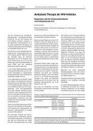 Ambulante Therapie der HIV-Infektion