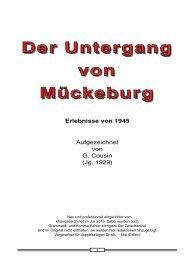 Der Untergang von Mückeburg Der Untergang von ... - khd-research