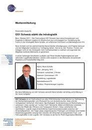 Medienmitteilung GS1 Schweiz stärkt die Intralogistik