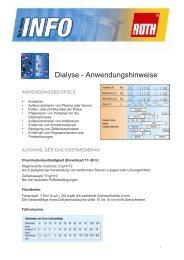 Dialyse - Anwendungshinweise - Carl Roth