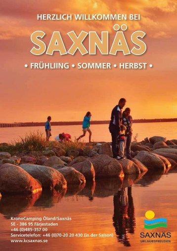 HERZLICH WILLKOMMEN BEI • FRÜHLIING • SOMMER ... - Saxnäs