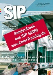 Sonderdruck aus SIP 4/2005 www.ColorTraining.de - ColorTour.de