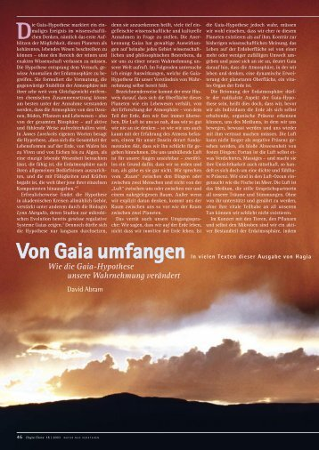 Von Gaia umfangen - Kulturkreativ.net