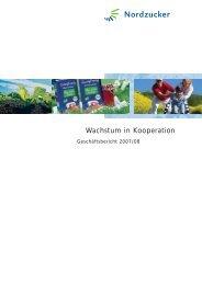 Wachstum in Kooperation - Nordzucker AG