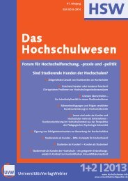HSW1+2 2013.qxd - Das Hochschulwesen