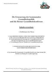 Die Erneuerung der kommunalen Gesundheitspolitik und die Herner ...