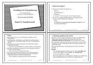 Grundlagen der Programmierung Kapitel 12: Zugriffskontrolle - TUM