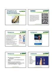 2. Orthopädische und sporttherapeutische Aspekte der Osteoporose