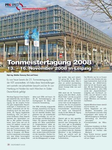 Tonmeistertagung 2008 – Ein Rückblick