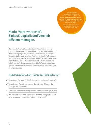 Modulbeschreibung Sage Office Line Warenwirtschaft (PDF)