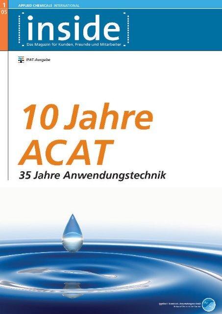 1. Ausgabe - Applied Chemicals International ACAT