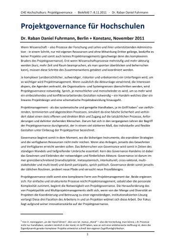 Modul 5: Projektgovernance - Hochschulkurs
