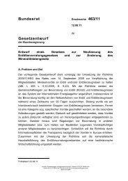 Bundesrat Gesetzentwurf - Umwelt-online