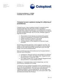 Coloplast lancerer opdateret strategi for udflytning af produktionen