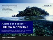 Atolle der Südsee – Halligen der Nordsee - Johannes Luetz