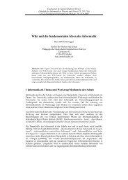 Wiki und die fundamentalen Ideen der Informatik - Beat Döbeli ...