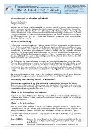 Information zur virtuellen Koloskopie - Radiologie Nordhausen